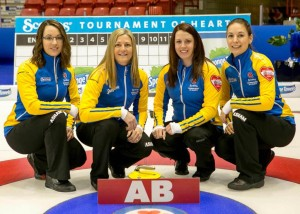 Team Alberta, Val Sweeting, Lori Olson-Johns, Dana Ferguson, Rachelle Brown, Scotties 2015